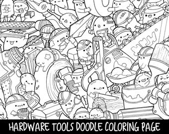 cute marshmallow coloring pages | Marshmallows Doodle Coloring Page Printable Cute/Kawaii
