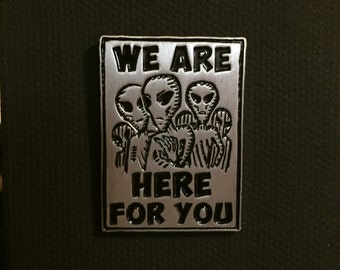Alien Abductee Support Group Pin - Ufo X-Files Flying Saucer Lapel Pin