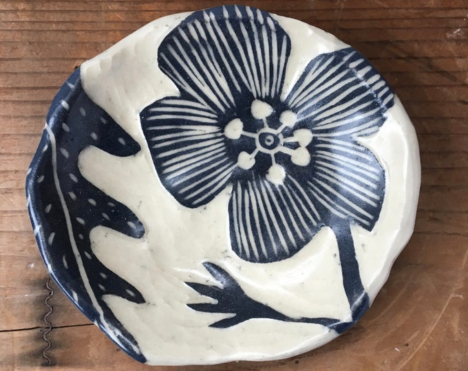 Floral Rind Dish