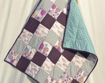 Re-purposed bridesmaid dress into baby quilt