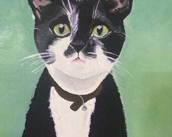 "Custom Acrylic Cat Portrait - 11""x14"""