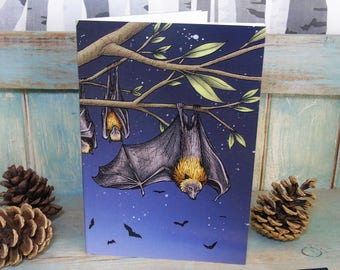 A5 Rodrigues Fruit Bats Illustration Journal ~ Notebook with 48 Lined Pages