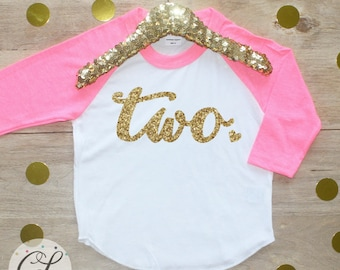 2nd Birthday Girl Shirt / Baby Girl Clothes Two Wild 2 Year Old Outfit Second Birthday Shirt 2nd Birthday Girl Outfit Two Raglan Sassy 001