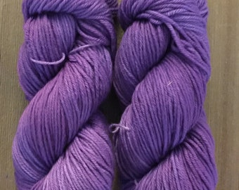 Hand Dyed Yarn Worsted weight 100g   Purple Unicorn