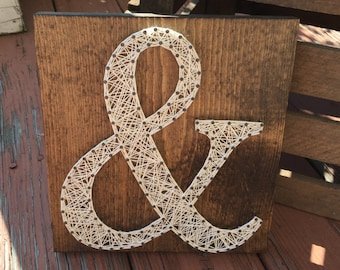 MADE TO ORDER Ampersand String Art