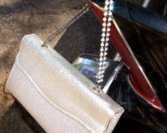 Vintage Metallic Silver Rhinestone Purse ...