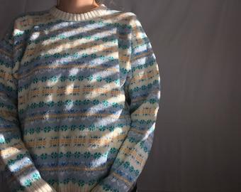 Vintage Pastel Cotton Sweater