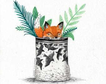 Fox Pot  // A5 Print 5x8