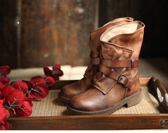 Arrdiyah Handmade Leather Female Boots