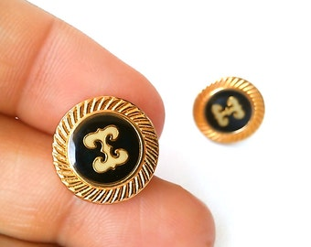24k Gold Plated Cartwright Stud Earrings. Vintage Inspired. One of a Kind. FAST Shipping from USA w/Tracking for Domestic Buyers.