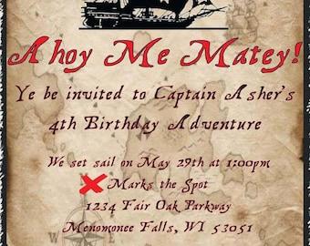 Pirate Birthday Invite and/or Birthday Bundle