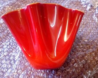 """Murano """"handkerchief"""" Vase Made by Vetrarti Glass"""