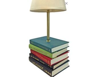Library lamp etsy lamp custom lamp book lamp desk lamp library decor literary decor mozeypictures Gallery
