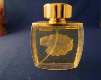 MOTHER'SDAY Gift LALIQUEPerfumeBottle Rare LionMotif GlassCollector'sVintageLalique perfume vintagelalique  Perfumebottle Frenchperfume