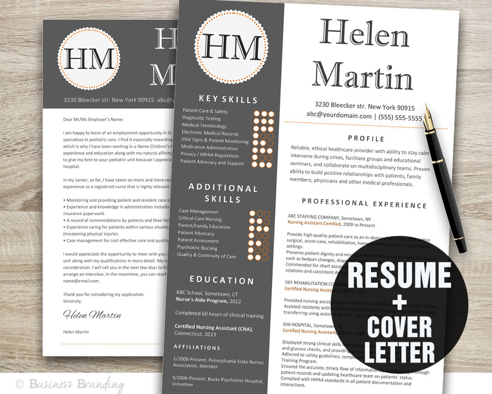 Classy Resume Template Instant Download Resume Cover Letter
