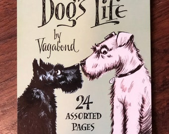 It's A Dogs Life Vintage Notepads