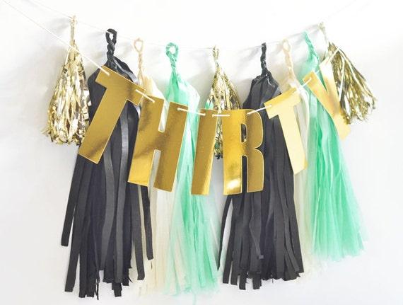 Happy 30th Birthday Banner 30th Birthday Party Decor Ideas