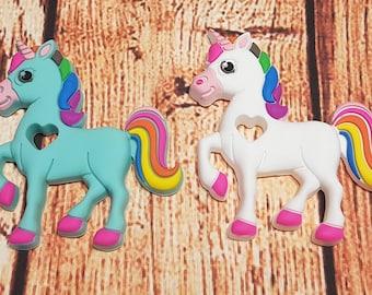 Unicorn silicone teething toy
