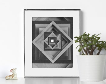 Cube Art Digital Download Printable Art Geometric Print Nordic Art Scandinavian Design Swedish Abstract Art Gallery Wall Print Geometric Art