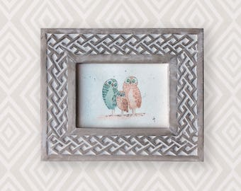 Original watercolour of a family of 3 owls. This is an original, NOT A PRINT. Perfect for a baby or child's room!