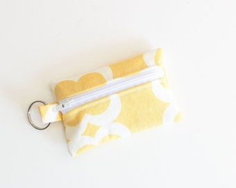Business Card Holder, Small Zipper Pouch, Flash Drive Holder Tarika Peach