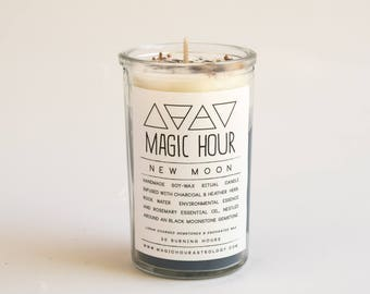 New Moon Handmade Ritual Candle - Small