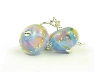 Violette Sterling Silver & Lampwork Glass Earrings