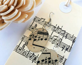 Sheet, Music, Earrings