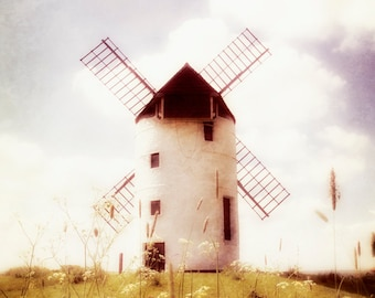 Landscape photography, Windmill, Rustic, Wall Art, Home decor