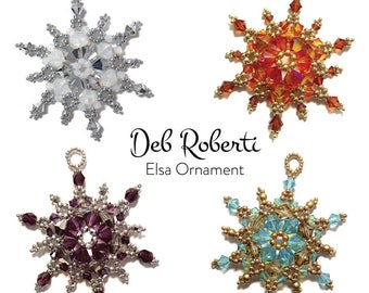 Elsa Ornament/Suncatcher beaded pattern tutorial by Deb Roberti