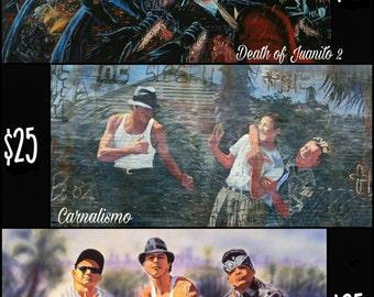 Blood In Blood Out autographed prints by original artist Adan Hernandez