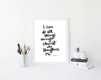 I Can Do All Things A4 Print