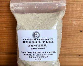 Herbal Flea Powder for Dogs 4oz Refill, natural flea control, flea treatment