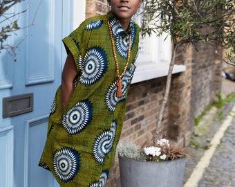 Bohemian Clothing Shirt Dress Casual Dress Summer Dress Ankara Dress Patterned Dress African Clothing Festival Dress Festival Clothing