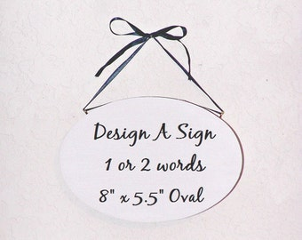 Design A Custom Sign, Wood Home Decor, Create Your Own, Modern Plaque, Oval Wall Hanging, Make A Sign Pick Text, Personal Gift, Custom Text