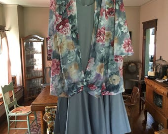 Mother of the Bride Dress Gray and  Floral