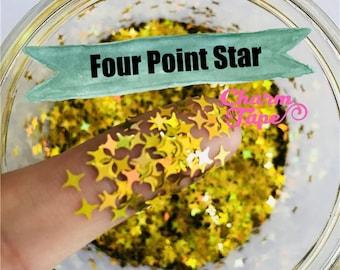 Four Point Stars Loose glitters 4mm UV resin, nail gel, acrylic nail, nail polish glitter, nail stamping