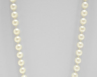 """18"""" Dainty Faux Pearl Necklace (7605) 8mm"""