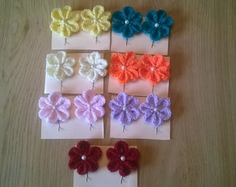 Hadmade 5cm flower clips on bobby pin