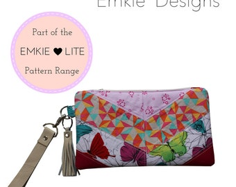 The Break The Rules Wristlet - PDF Sewing Pattern - Instant download, Bag, Clutch, Zipper Pouch, Pouch, Wristlet