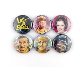 """Lost in Space - 1"""" Button Pin Set"""