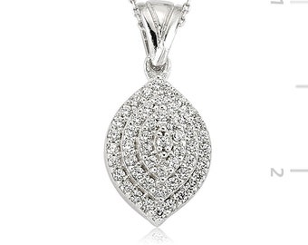 Swarovski Silver Necklace - IJ1-2087