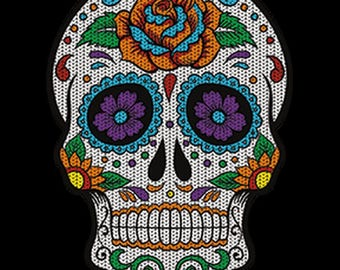 Floral Sugar Skull Day of the Dead WOMENS Short Sleeve T Shirt 19275