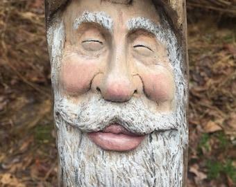 Wood Carving, Third Eye, Chakra, Wall Art by Josh Carte, Hindu, Handmade Woodworking, Wood Sculpture, Perfect Wood Gift, Driftwood