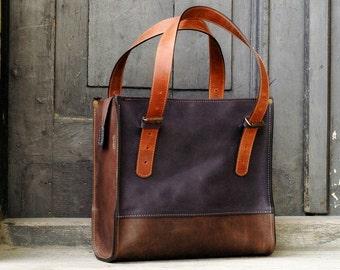leather tote, leather laptop bag, large leather tote bag,brown  handbag natural leather,  shoulder bag, laptop tote