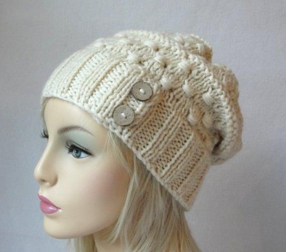 Knitting Pattern Knitted Hat Pattern Macaroni Beanie Knit Slouch