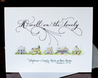 Philippians 1:8 Set of 8 Scripture Note Cards (Hand Lettered and Hand Painted)