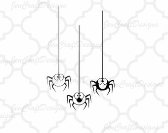 Halloween Spiders SVG, DXF, EPS, Halloween, cut files for use with Silhouette and Cricut. Vector Art, Digital Cut Files Instant download
