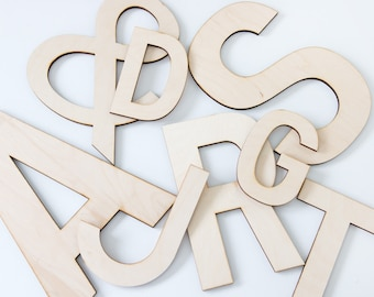 Raw Wood Letters / Unfinished Wood Letter / Capital Letter / Birch Wood Letter / DIY Craft Wood Letter / Laser Cut Letters / Wooden Letter