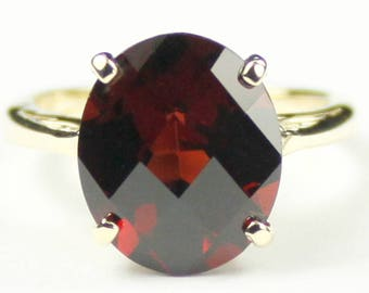 Mozambique Garnet, 14Ky Gold Ring R055